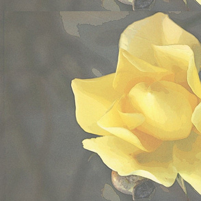 Yellow rose tea towel - summer