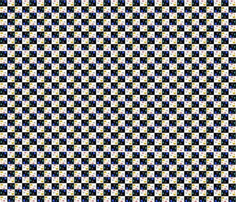 Hark how the bells checkerboard fabric by scifiwritir on Spoonflower - custom fabric