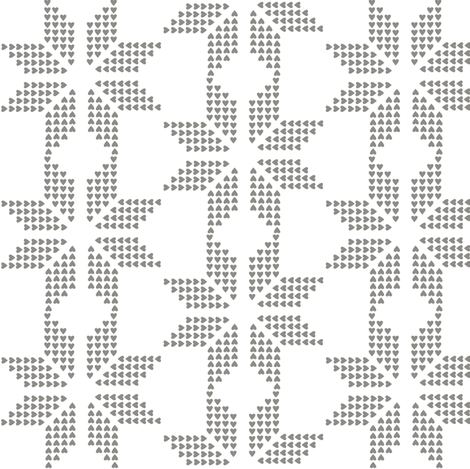 winter snowflake fabric by katarina on Spoonflower - custom fabric