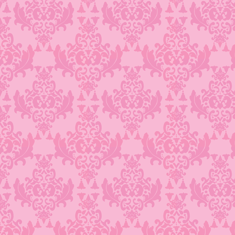 Delicious Damask Pinks-Small print fabric by mayabella on Spoonflower - custom fabric