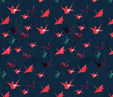 paper cranes print fabric by lotfi on Spoonflower - custom fabric