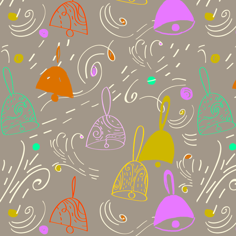 Merry & Bright fabric by fable_design on Spoonflower - custom fabric