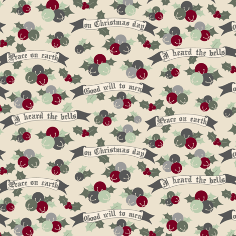 I Heard the Bells fabric by audzipan on Spoonflower - custom fabric