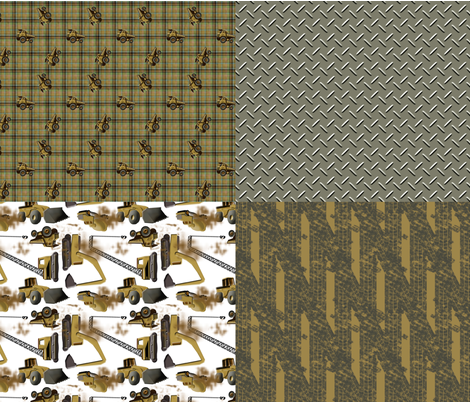 Under Construction - Dirt and Mud 4-in-1 fabric by evenspor on Spoonflower - custom fabric