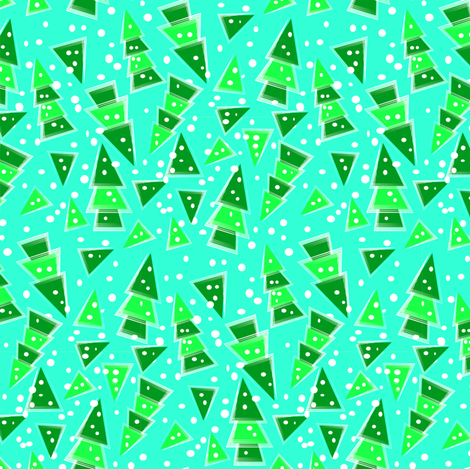 Abstract Evergreens fabric by eclectic_house on Spoonflower - custom fabric