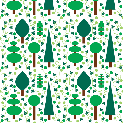 Evergreens fabric by squeakyangel on Spoonflower - custom fabric