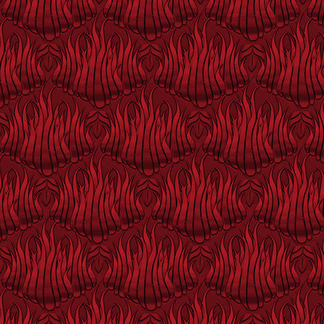 Flamestitch Red Leather fabric by glimmericks on Spoonflower - custom fabric