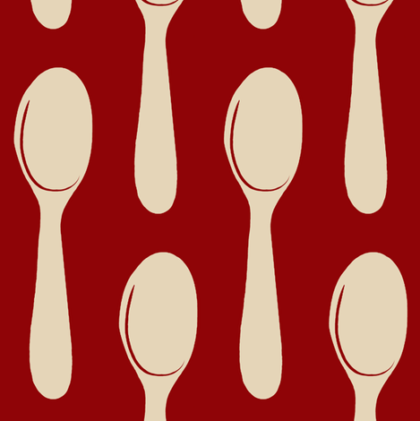 spoons fabric by paragonstudios on Spoonflower - custom fabric