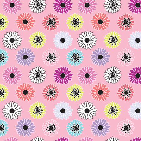 Candy Blossoms - pink fabric by kayajoy on Spoonflower - custom fabric