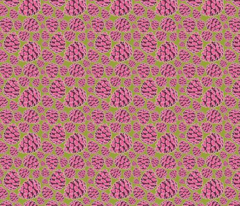 Retro Pinecones {Fuschia and Chartreuse}