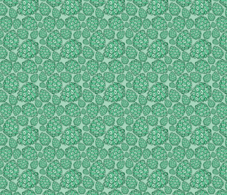 Retro Pinecones {Mint and Seafoam} fabric by joyfulroots on Spoonflower - custom fabric