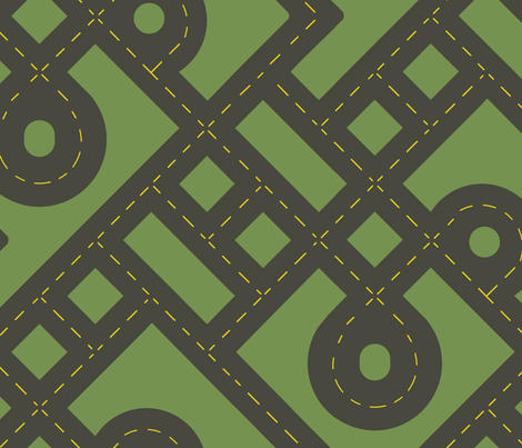 Road Work fabric by evenspor on Spoonflower - custom fabric