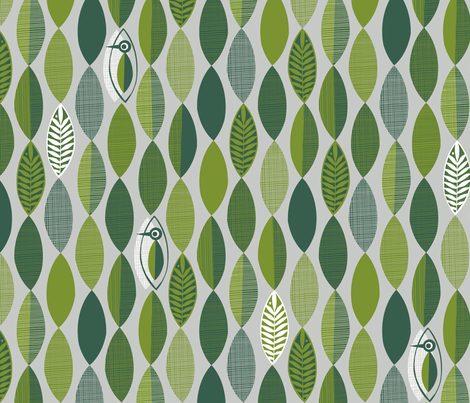 Woodland Woodcut fabric by spellstone on Spoonflower - custom fabric