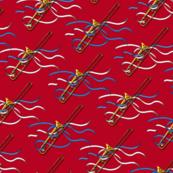 Trombone & Ribbons Fat Quarter Small Print