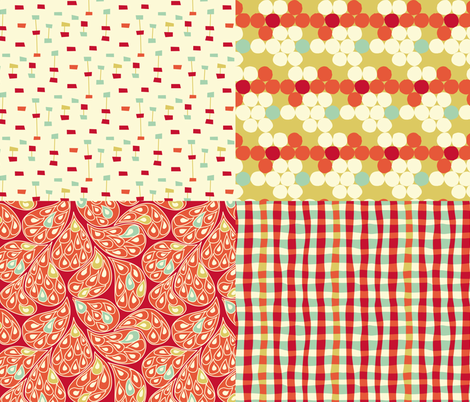 4 pour 1! fabric by mariao on Spoonflower - custom fabric