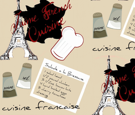 french cuisine fabric by paragonstudios on Spoonflower - custom fabric