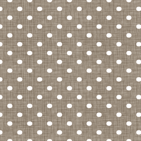 Faded French Spots - Brown fabric by kristopherk on Spoonflower - custom fabric