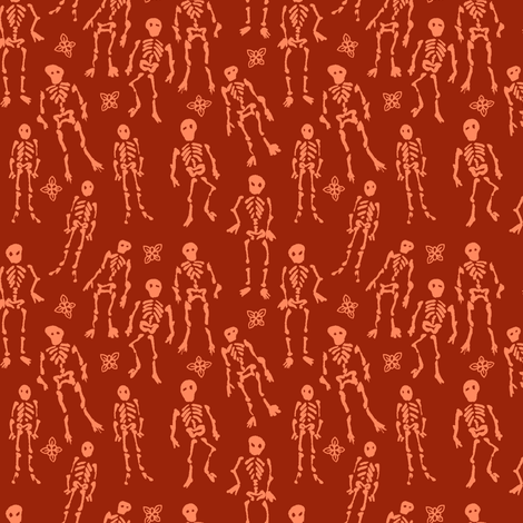 Ditsy Skeletons fabric by jadegordon on Spoonflower - custom fabric