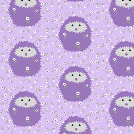 hedgie_lavender_jpg_2 fabric by vo_aka_virginiao on Spoonflower - custom fabric