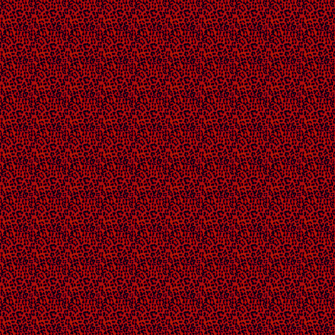 ©2011 MICRO20 leopardprint red fabric by glimmericks on Spoonflower - custom fabric