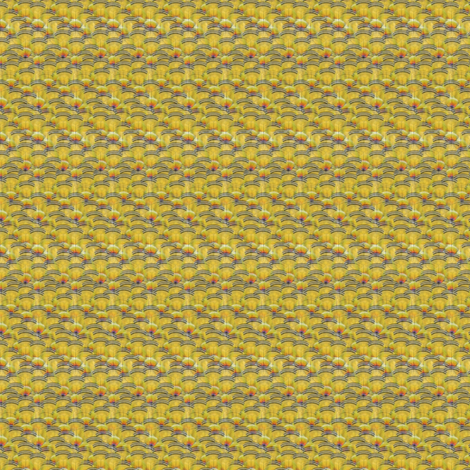 MICRO20 woodduck2 yellow fabric by glimmericks on Spoonflower - custom fabric