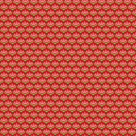 MICRO20 Flamestitched Dragon Scales in Coral fabric by glimmericks on Spoonflower - custom fabric
