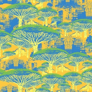 Socotra Dragon Trees & Al Hajarah; Susse Color Pallette