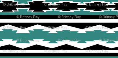 Western Stripe in Teal