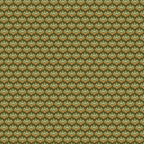 MICRO20 Flamestitch - Moss fabric by glimmericks on Spoonflower - custom fabric