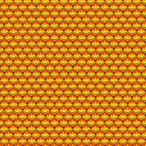 MICRO20 Flamestitch - Goldenfire fabric by glimmericks on Spoonflower - custom fabric