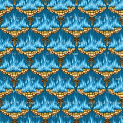 MICRO20 Flamestitch Blueflames