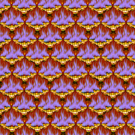 Flamestitch - Purplehaze  fabric by glimmericks on Spoonflower - custom fabric