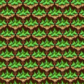 Flamestitch in Emerald Fire