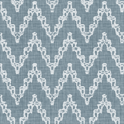 Faded French Chevrons - Blue fabric by kristopherk on Spoonflower - custom fabric