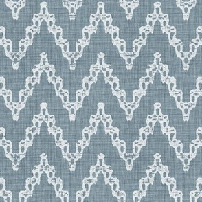Faded French Chevrons - Blue