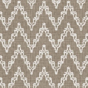 Faded French Chevrons - Brown