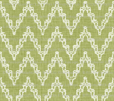 Faded French Chevrons - Green
