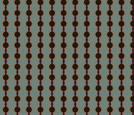 Prayer To The Nile (Blue) fabric by david_kent_collections on Spoonflower - custom fabric