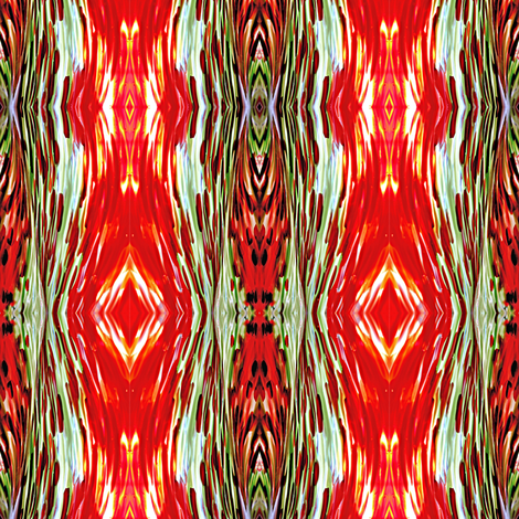 Blown Glass in Orange and Green fabric by glennis on Spoonflower - custom fabric