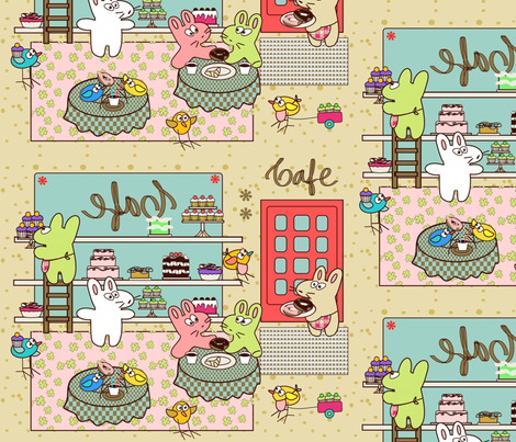 Kato's Cafe fabric by kato_kato on Spoonflower - custom fabric