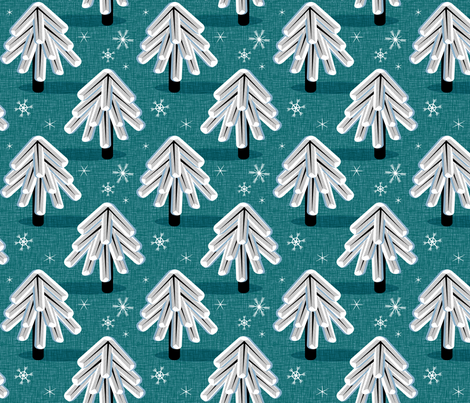Evergreen fabric by pennycandy on Spoonflower - custom fabric