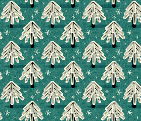 Evergreens on Linen fabric by pennycandy on Spoonflower - custom fabric