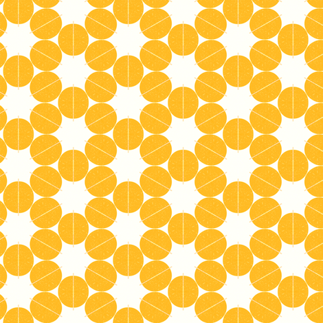 Lemon Circles fabric by stoflab on Spoonflower - custom fabric