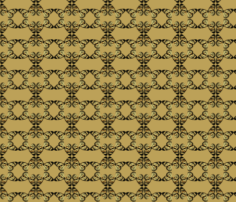 Monarch Stars-golds/tans fabric by relative_of_otis on Spoonflower - custom fabric