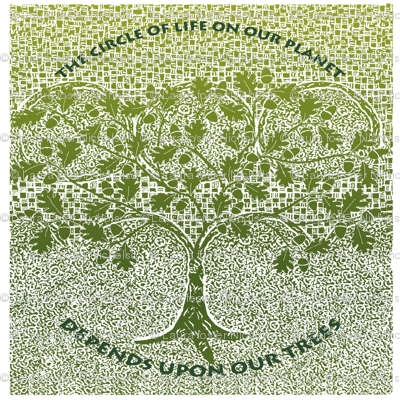 save our trees napkin