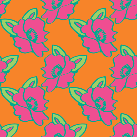 Candy Flowers ©2012 Jill Bull fabric by fabricfarmer_by_jill_bull on Spoonflower - custom fabric