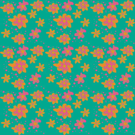 Dizzy little daisy ©2012 Jill Bull fabric by palmrowprints on Spoonflower - custom fabric