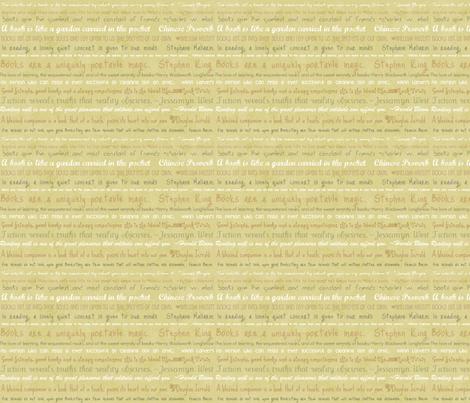 Bookish Quotations fabric by myndfulmotif on Spoonflower - custom fabric