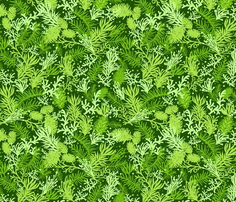 Fluffy Evergreens fabric by oksancia on Spoonflower - custom fabric