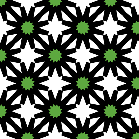 Epiphany Stars (Green) fabric by nekineko on Spoonflower - custom fabric
